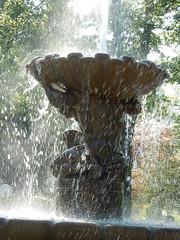 Bad Reichenhall (simo2582) Tags: travel panorama reflection water fountain germany landscape deutschland bavaria europe day view brunnen spray splash blick gradierwerk badreichenhall