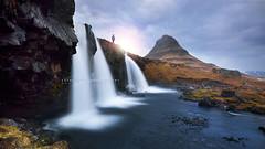 Admiring kirkjufell (FredConcha) Tags: cloud sun nature landscape waterfall iceland rocks lee kirkjufell admiring nikond800 fredconcha