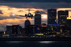 (cvillandry (Instagram & Twitter @cvillandry)) Tags: city travel sunset sky tourism boston clouds airplane aviation delta airlines