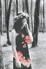 (you.are.made.of.magic.) Tags: flowers portrait girl forest overlay