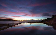 Sky mirror    Malabar (David Marriott - Sydney) Tags: ocean cloud reflection pool rock sunrise dawn mirror long exposure venus au australia nsw newsouthwales randwick malabar