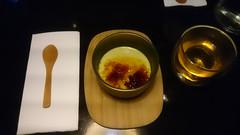 Matcha creme brulee with hot grean tea AUD10 - Mensousai Mugen, Melbourne - top (avlxyz) Tags: fb3 food japanesefood gaijinfood dessert custard cremebrulee matcha greentea sweet