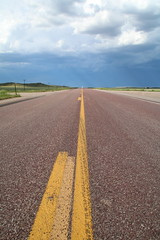 On the road - Storm is coming (www.JnyAroundTheWorld.com - Pictures & Travels) Tags: road sky usa storm nature weather clouds canon landscape outdoors roadtrip wyoming greatplains tatsunis grandesplaines