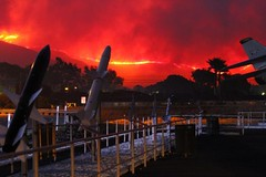 A wildfire approaches Naval Base Ventura County. (Official U.S. Navy Imagery) Tags: usa calif navalbaseventuracounty