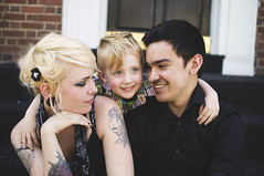 Kim, Oli, Gabe (Jon Medina) Tags: family portrait cute love modern kid sony models smiles tattoos explore hugs lovely alpha bf gf a35 explored