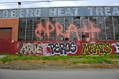 ABUE, PEROS, MEATS (STILSAYN) Tags: california graffiti oakland bay area abu meats aboo abue 2013 peros