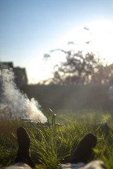 A Very British Summer (tj.blackwell) Tags: life summer feet cooking grass sunshine garden happy countryside town warm afternoon seasons image stock lawn atmosphere bbq barbecue serenity nostalgic softfocus british hazy relaxation reverie