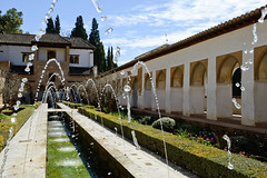 Courtyard of the acequia in Generalife, Alhambra, Granada (javi_indy) Tags: travel castle art heritage tourism monument water fountain pool beautiful architecture court garden outdoors spain construction ancient europe islam decoration royal style landmark courtyard palace tourist andalucia historic unesco spanish arab journey alhambra moorish granada historical andalusia attraction islamic generalife touristic
