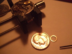 DSCF4299 (bigjohnf1) Tags: macro stem mechanical small watch hobby automatic crown wrist gears making jewel 1965 bulova