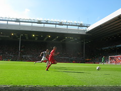 Carragher still battling (kersalflats) Tags: club liverpool football jamie stadium reds mighty qpr anfield lfc carragher
