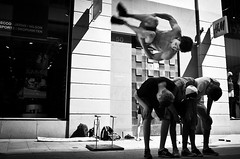 The Wonder Flyer.. (Peter Levi) Tags: street city blackandwhite bw blancoynegro boys 35mm jump stockholm streetphotography documentary acrobatics acrobat socialdocumentary x100 x100fujifilm
