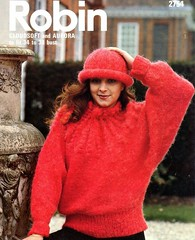 RobinCL_05 (Homair) Tags: robin hat vintage sweater fuzzy fluffy mohair combo