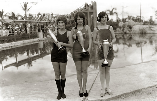 Beauty contest winners at the Venetian Pool in Coral Gables, Florida