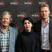 Derek Malcolm, Samira Makhmalbaf and Kevin McKidd at a photocall for Michael Powell Jury