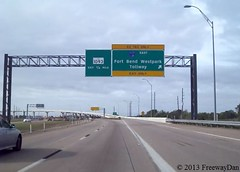 Southbound Texas 99 at exit for Fort Bend Westpark Tollway EAST (FreewayDan) Tags: highway texas bend toll freeway expressway grand road county parkway area fort houston taken state future ranch 99 cinco harris 462013