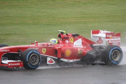 Felipe Massa in FP1 at the 2013 British Grand Prix