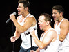 Nick Lachey, Justin Jeffre, & Jeff Timmons (amyshaped) Tags: jeff dallas nick 98 americanairlinescenter degrees lachey timmons canonsx50 thepackagetour