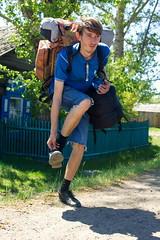 Minor inconvenience traveler (TauraLilli) Tags: travel constantine backpacking backpack hitchhiking uncomfortable backpacker prisoner traveler константин пленник tauralilli