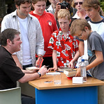 Darren Shan signs books at the 2004 Edinburgh International Book Festival