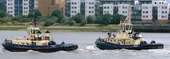 Svitzer Tugs @ Gallions Reach 25-07-13 (AJBC_1) Tags: uk england london boat ship unitedkingdom vessel tugboat tug riverthames eastlondon gallionsreach northwoolwich newham londonboroughofnewham svitzer ©ajc dlrblog ©ajc