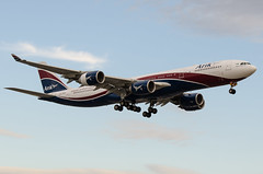 Airbus A340, CS-TFX, Arik Air, (Hi Fly). (PRA Images) Tags: airbus lhr a340 heathrowairport egll hifly arikair cstfx captainbobhayesoon