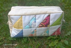 Triangle patchwork pouch w/ HSTs (Lisa in Port Hope) Tags: triangle patchworkplease pouchzakka
