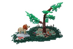 Pyramus and Thisbe (Legopard) Tags: horse tree greek ancient lego leo lion dio diorama metamorphose ovid thisbe pyramus legopard