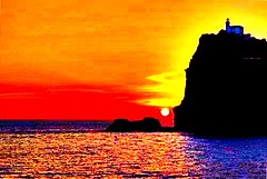 (Supercanio) Tags: pictures travel blue light sunset sea summer portrait italy orange sun color nature water colors sunshine rock season relax photography lights reflex amazing travels rocks tramonto mare seasons estate pics picture pic portaits natures holyday sunline sunlines colorvibefilter