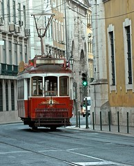 Lisbon tourists tramway (Color in the city)