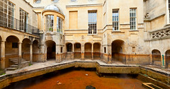 Roman Baths in Bath (Dmitri Naumov) Tags: uk england hot building english heritage public water pool stone museum architecture facade spring ancient bath roman britain interior famous victorian medieval historic baths british hotspring spa archeology thermal touristattractions thermae bathhouse sacredspring touristdestination