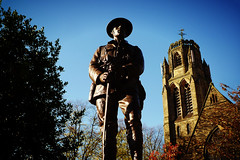 Remembrance Sunday [314/365] (Nomis.) Tags: blue england sky sculpture church monument oneaday statue bronze manchester soldier lumix memorial skies cheshire panasonic henry stockport photoaday soldiers 365 remembranceday remembrance warmemorial stpaulschurch pictureaday remembrancesunday day314 servicemen heatonmoor project365 lx3 heatonmoorwarmemorial project365314 day314365 johncassidy 3652013 ipiccy vintagehenryeffect vintagehenry 365the2013edition 10nov13 project36510nov13 project365111013