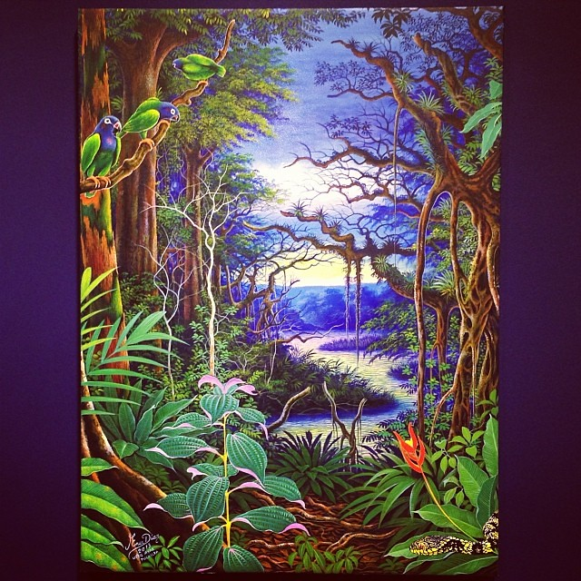 """Ener Díaz Núñez """"Usko Ayar"""" • """"La escuela de las Visiones"""" #art #arteenlima #artinlima #arte #artist #artista #painting #pintura"""