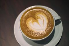 Heart in a cup. (Explored) (Linh H. Nguyen) Tags: coffee design heart drink coffeeshop espresso latte latteart tabletop explored 12corners nex7 milkpattern