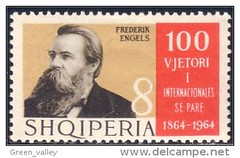 Frederik ENGELS. 100 vjetori i internacionals komuniste t par, 1864-1964. 100th century of the creation of the first communist International, 1864-1964. (Only Tradition) Tags: al stamps pulla albania philately sellos filatelia albanien shqiperi shqiperia albanija albanie segells timbres francobolli shqipri ppsh shqipria filateli arnavutluk philatlie  philateli rpsh   albnija