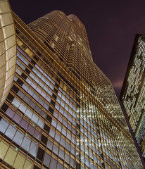 Trump Tower during Chiberia (olsonj) Tags: city chicago cold night illinois super trumptower chiberia polarvortex