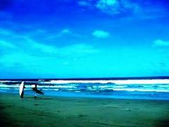 surfers on bagasbas beach