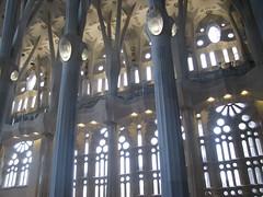 Sagrada Familia interior, Barcelona, Spain (bonnieshappell) Tags: barcelona interior gaudi sagradafamilia