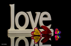 Whole Lotta Love!! (BGDL) Tags: love reflections hearts iloveyou amore tabletop odc niftyfifty nikond7000 bgdl lightroom5 nikkor50mm118g