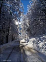 Sur la route... un lendemain de neige ;)