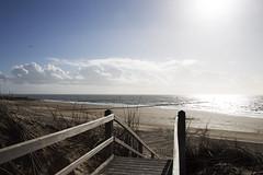 Enter the beach (Arjan Gerritsen) Tags: blue sea sun beach clouds strand stairs photography photo blauw foto fotografie dunes picture wolken zee duinen zon trap westkapelle afbeelding canoneos6d canonef24105mmisusm