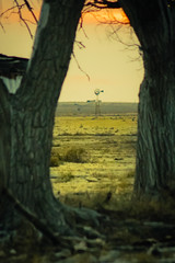 In Aline (Chains of Pace- Road Trip to LA) Tags: sunset oklahoma windmill landscape sony western prairie panhandle oldwest