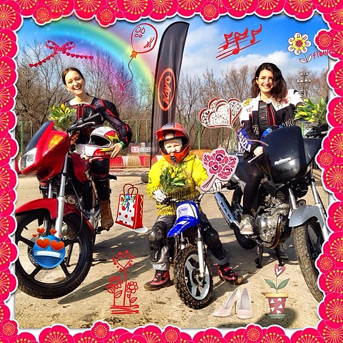 В этот праздничный день студентки наших друзей Мотошколы N1 в России @PRTmoto Инна, Аня и Натия были наполнены весенним настроением и стали настоящим украшением учебной площадки начального уровня    Инна @innachocolate Мотоцикл #Yamaha #ybr125   Аня 7 лет