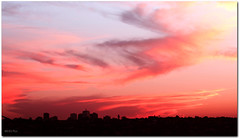 Painted Sky ('Mick's Pics') Tags: city sunset sky cloud sun color colour skyline clouds canon flickr afternoon sydney australia nsw newsouthwales canonphotography canon600d