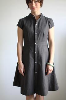 Self drafted shirt dress