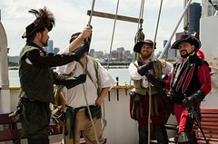 The captains seem like they know what they're doing (Pahz) Tags: chicago pirates windy lakemichigan greatlakes navypier tallship bristolrenaissancefaire chicagoillinois tallshipwindy bristolpirates