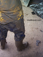 muddy boots (MudboyUK) Tags: man guy mud boots dirty overalls worker filthy wellies muddy bootsmudfetish