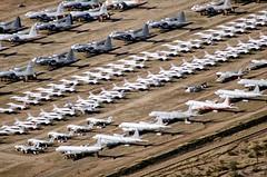 Overflight AMARG 66 (eLaReF) Tags: graveyard airplane desert tucson az aeroplane storage davis scrapping scrap derelict dm boneyard davismonthan amarc monthan kdma amarg 309th