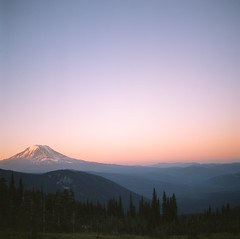 New Day (Aaron Bieleck) Tags: morning mountain 6x6 film analog sunrise square landscape washington nw hiking 120film backpacking valley pacificnorthwest wilderness mtadams hasselblad500cm filmisnotdead