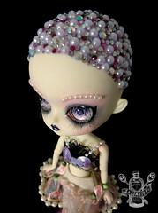 Bijou (saijanide) Tags: pink doll artist dolls lashes crystal circus ooak dal pearls wig mohair tightrope pullip custom jewels tutu repaint faceup saijanide