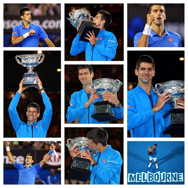 Im so privileged and honoured and grateful to be standing here as a champion for the fifth time, to be in the elite group of players with Sir Roy Emerson and all the legends of our sport. - Novak Djokovic  a 7-6(5) 6-7(4) 6-3 6-0 win by #novakdjokovic